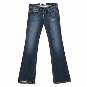 Hollister Boot Cut Semi Dark Wash w/ Fading Jeans